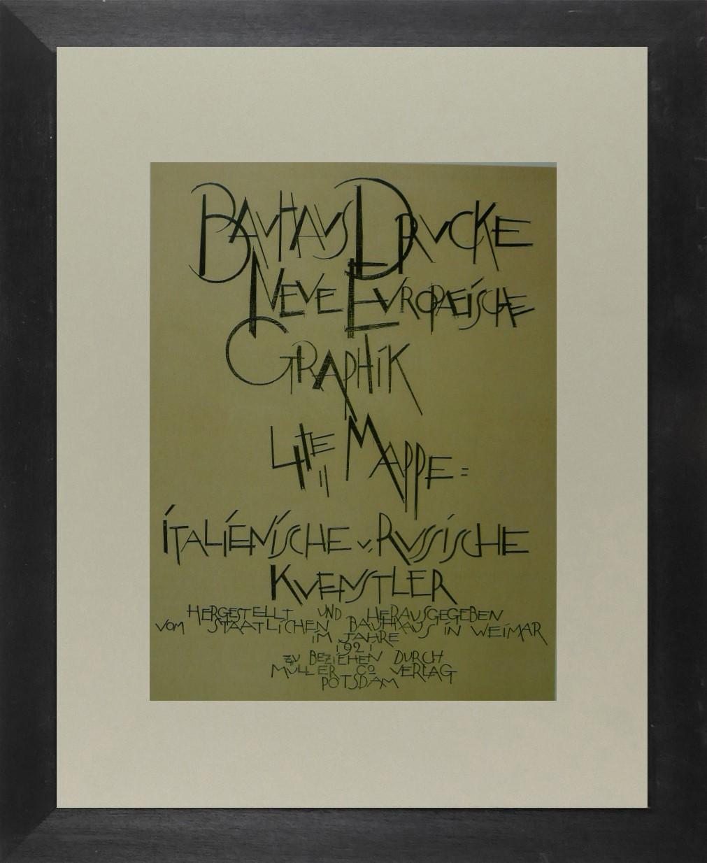 Bauhaus Bauhaus Advert - Framed Picture 11 x 14