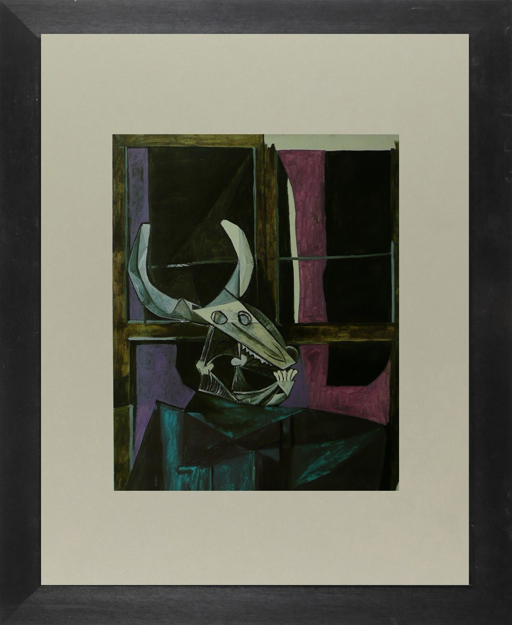Still life with steer skull - Picasso - Framed Picture 11 x 14