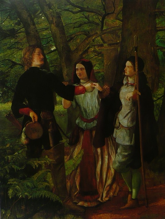 A scene (the Mock Marriage of Orlando and Rosalind) from As you Like It - Walter
