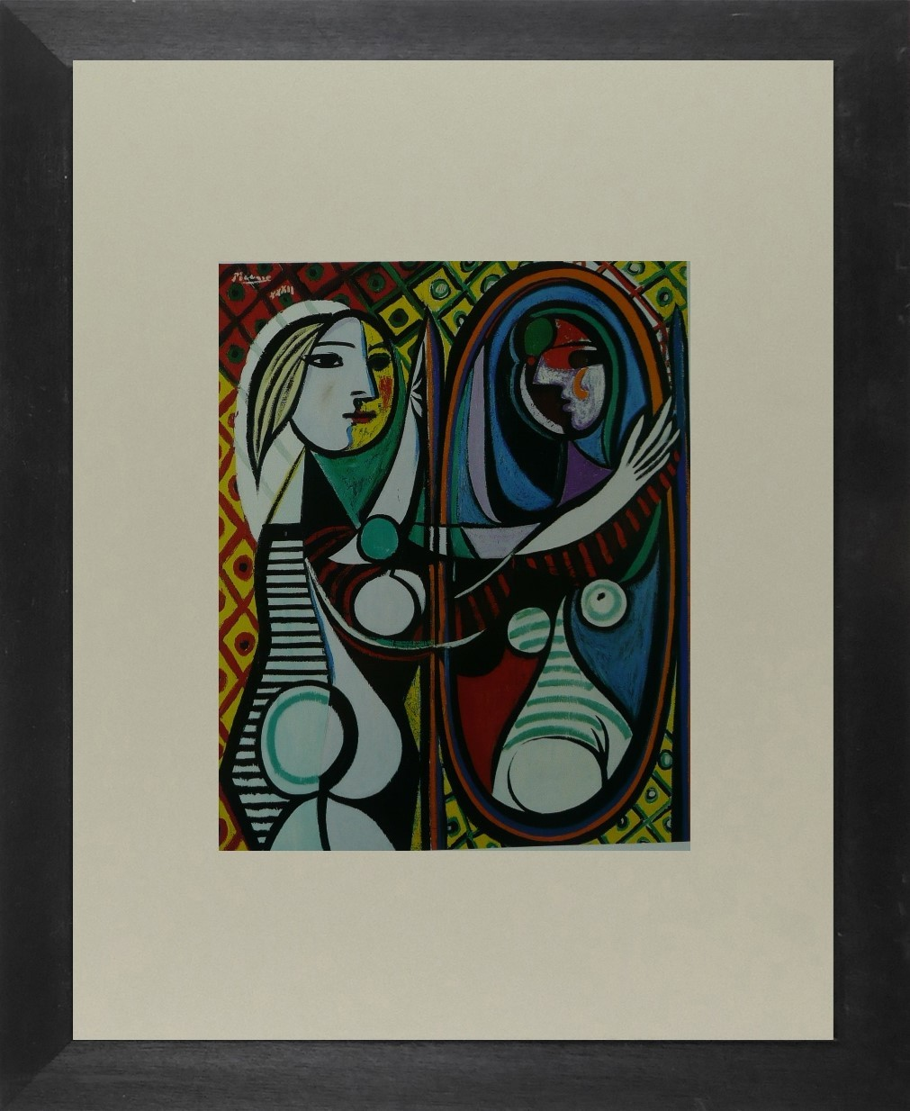 Girl before a mirror - Picasso - Framed Picture 11 x 14