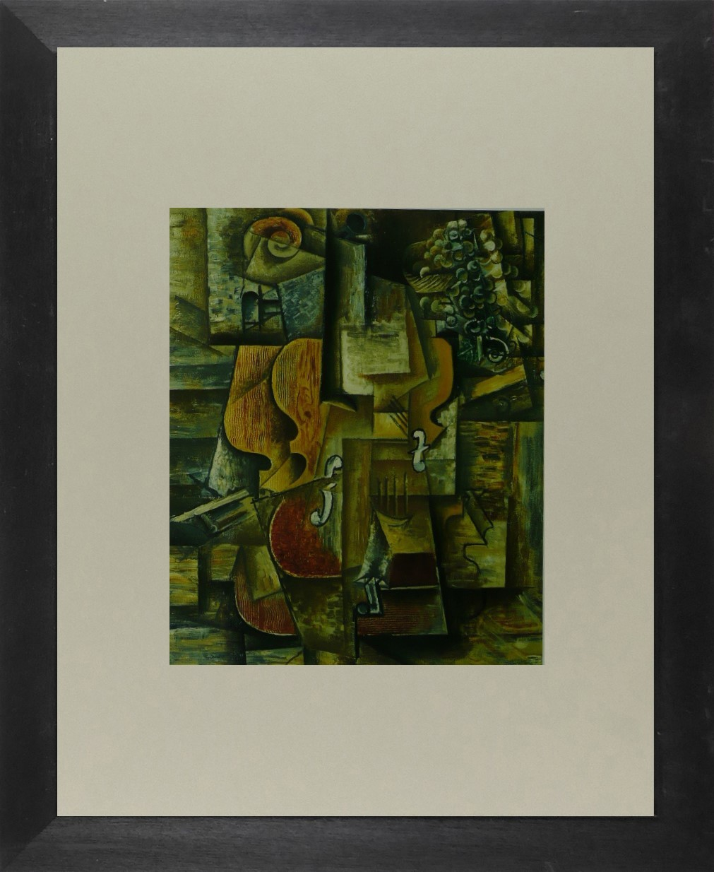 Violin & Grapes - Picasso - Framed Picture 11 x 14
