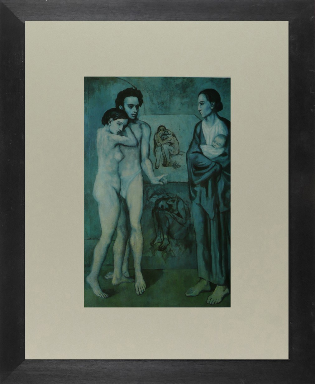 La Vie (3 Figures in blue) - Picasso - Framed Picture 11 x 14