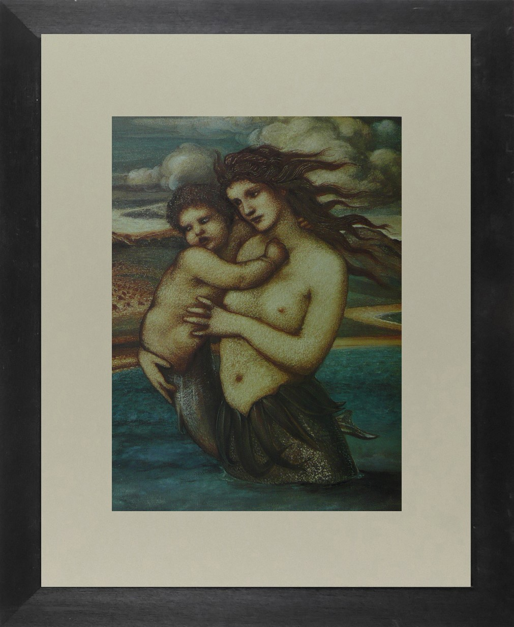 The Mermaid - Sir Edward Coley Burne-Jones - Framed Picture 11 x 14