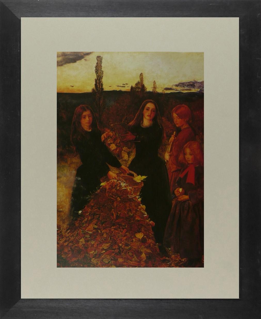 Auburn Leaves - Sir John Everett Millais - Framed Picture 11 x 14