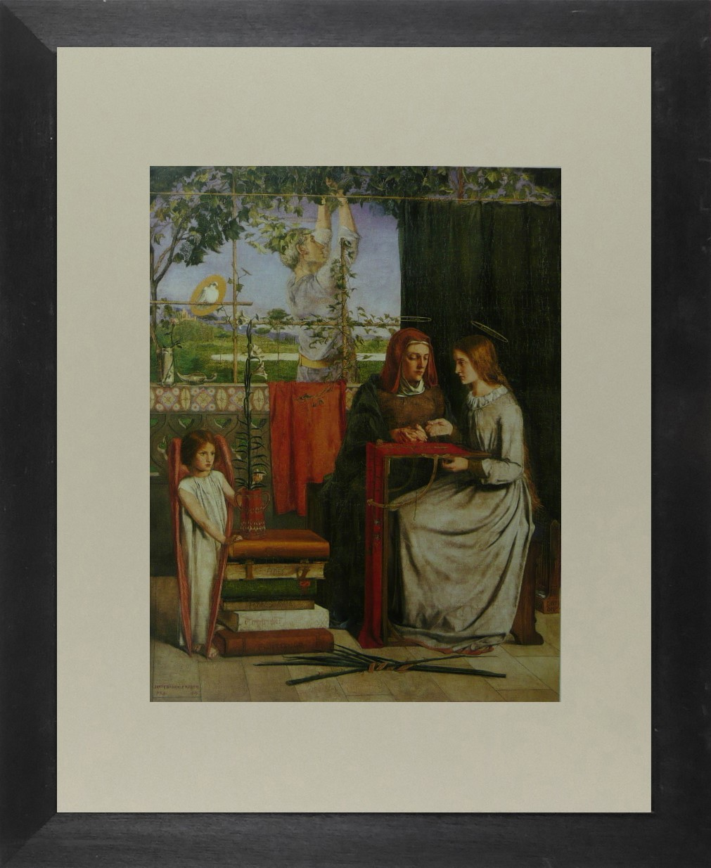 Girlhood of Mary Virgin - Dante Gabriel Rossetti - Framed Picture 11 x 14