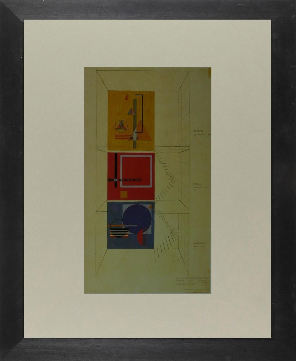Herbert Bayer - Sekretariat - (Bauhaus) - Framed Picture 11 x 14