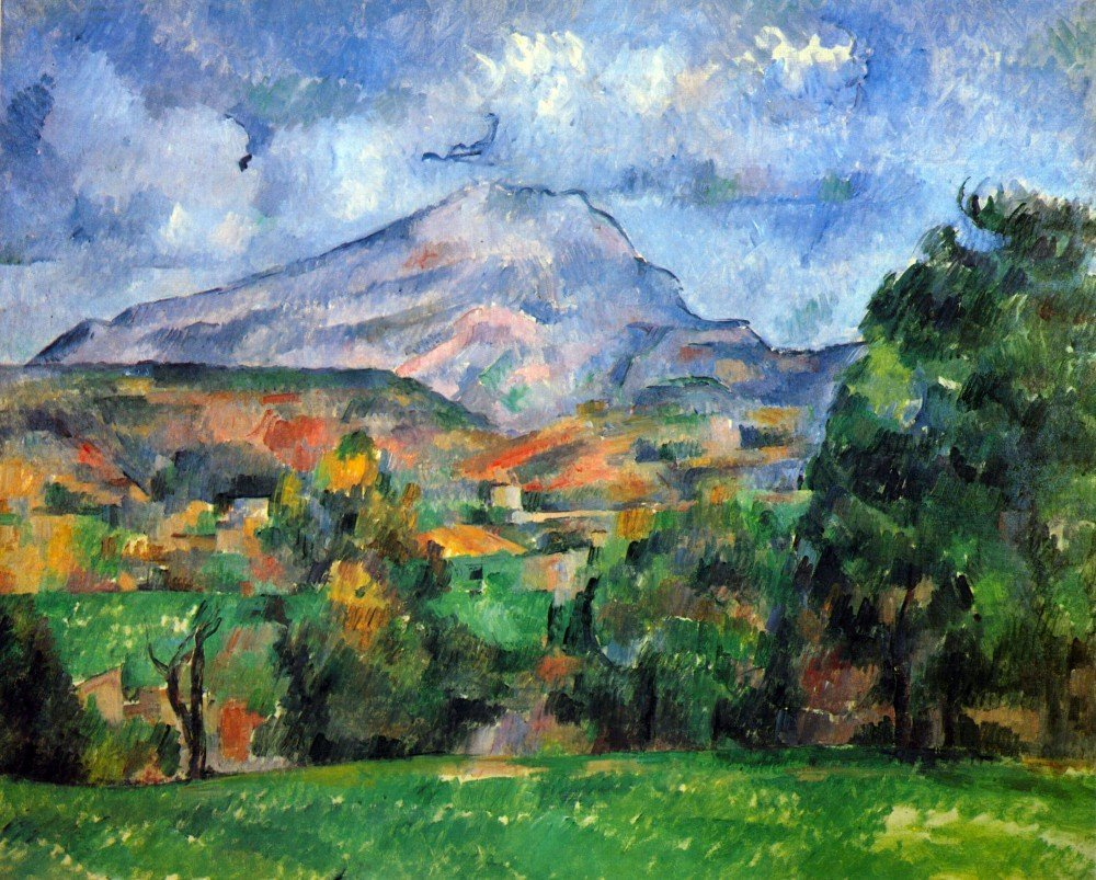 100% Hand Painted Oil on Canvas - Mount St. Victoire by Cezanne - 30x40 Inch