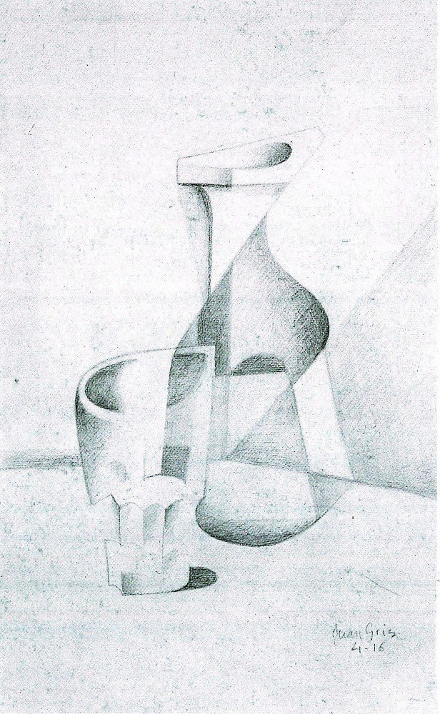 100% Hand Painted Oil on Canvas - Caraffe and Glass by Juan Gris - 20x24 Inch