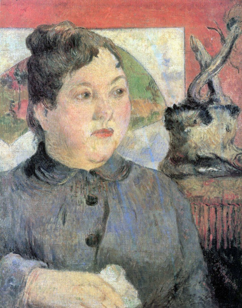 100% Hand Painted Oil on Canvas - Madame Kohler by Gauguin - 30x40 Inch