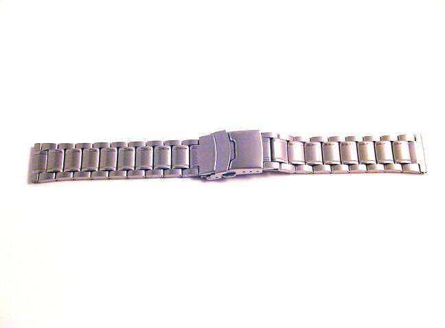 Stainless Steel Bracelet Watch Band STRAP WITH DEPLOYMENT CLASP Safety Catch S1