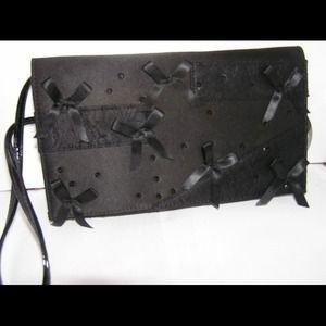 """Prabal Guring Black Evening Embellished Clutch 6""""x10.5"""""""
