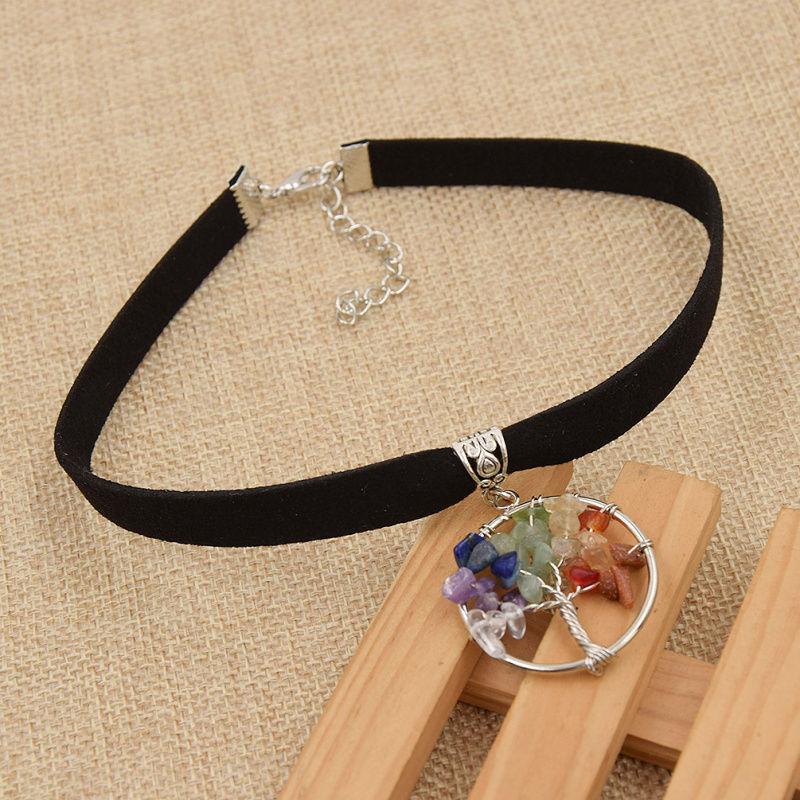 CHOKER Necklace Tree Of Life Natural Stone Choker Women's Jewelry Accessories