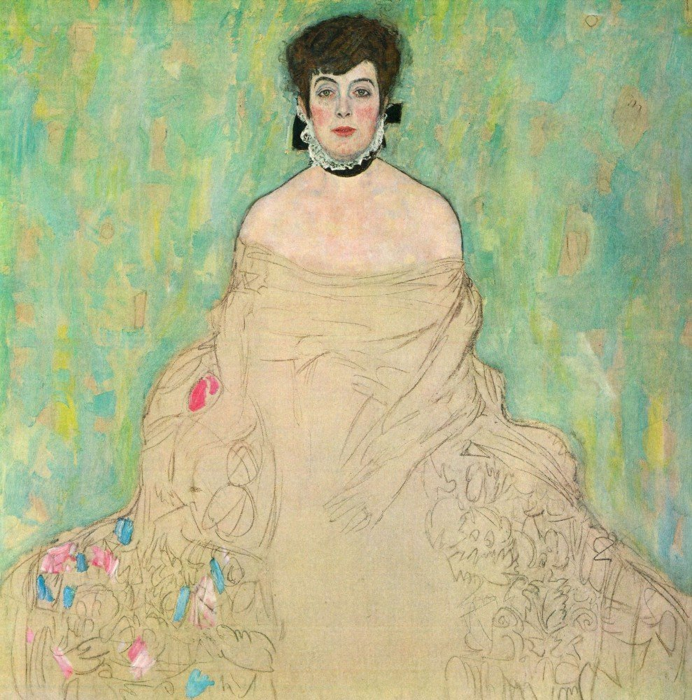 100% Hand Painted Oil on Canvas - Portrait of Amalie Zuckerkandl by Klimt - 3...