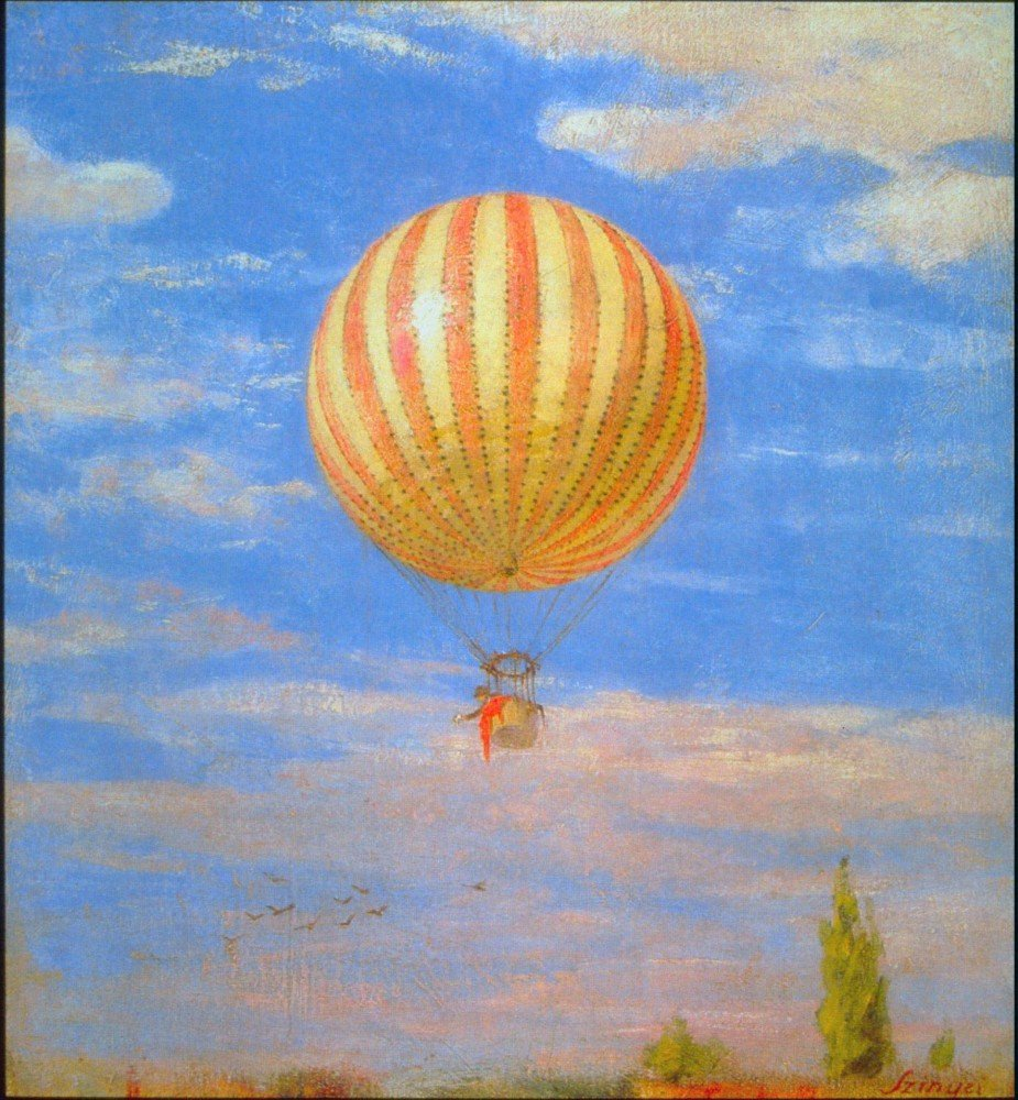 100% Hand Painted Oil on Canvas - The Baloon by Merse - 24x36 Inch