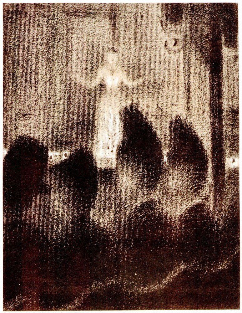100% Hand Painted Oil on Canvas - Concert in Europe by Seurat - 20x24 Inch