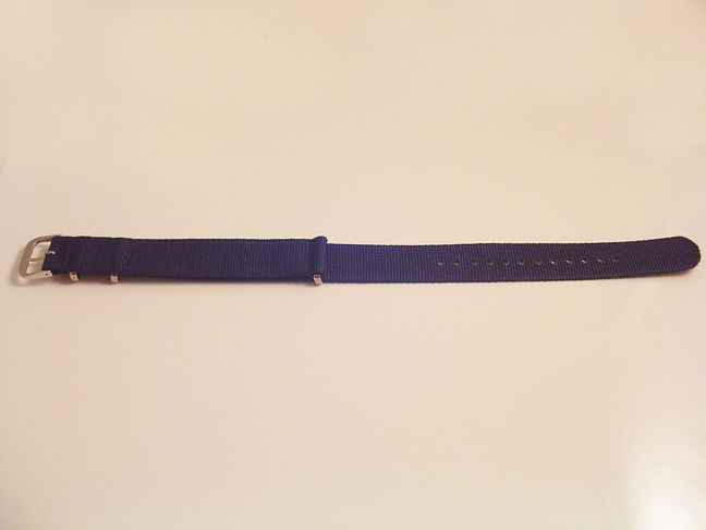 NEW ONE PIECE MILITARY STYLE BLUE NYLON WATCH BAND 18MM, 20MM & 22MM STRAP S38C
