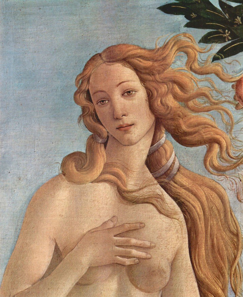 100% Hand Painted Oil on Canvas - Birth of Venus Detail 3 by Botticelli - 30x...