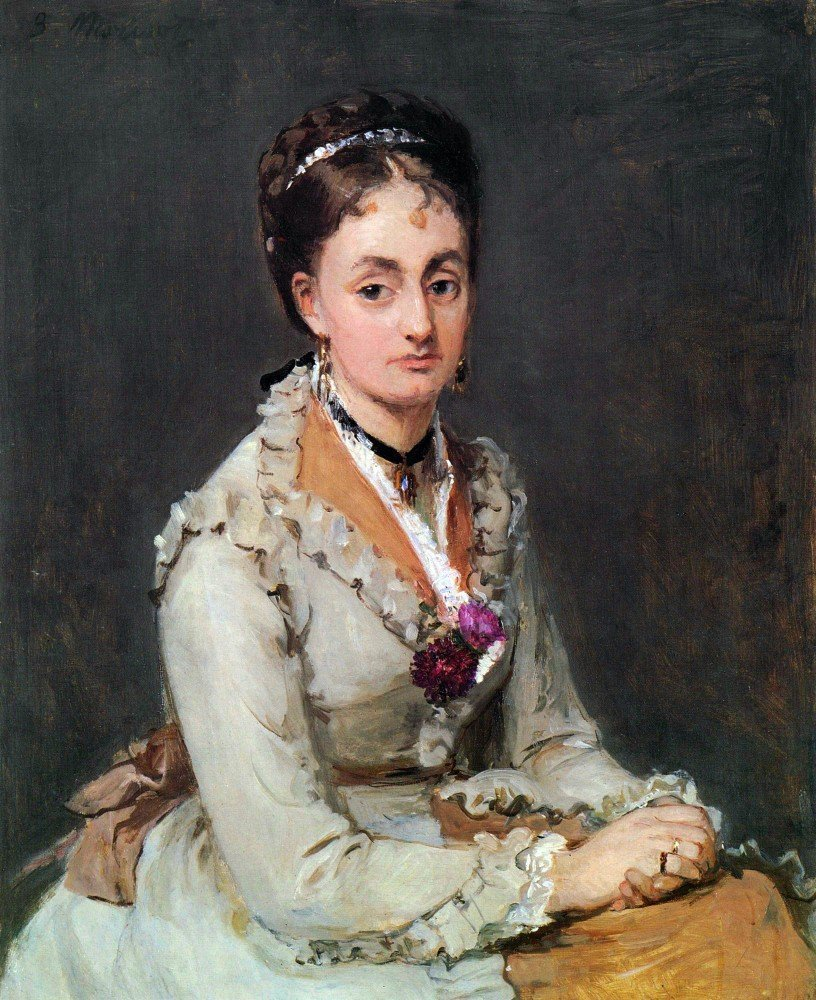 100% Hand Painted Oil on Canvas - Portrait of Edma by Morisot - 30x40 Inch