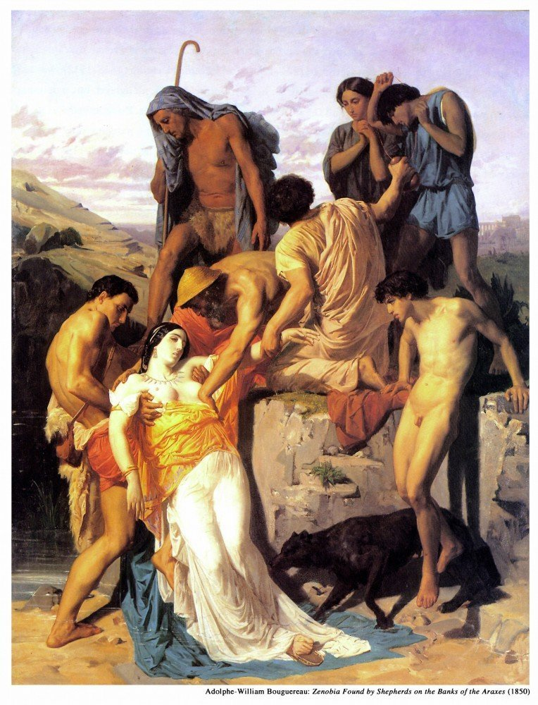 100% Hand Painted Oil on Canvas - Zenobia 1850 - 24x36 Inch