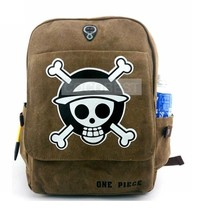 One Piece Student sailcloth Backpack Schoolbag Travelling bag Anime Bag - $18.33