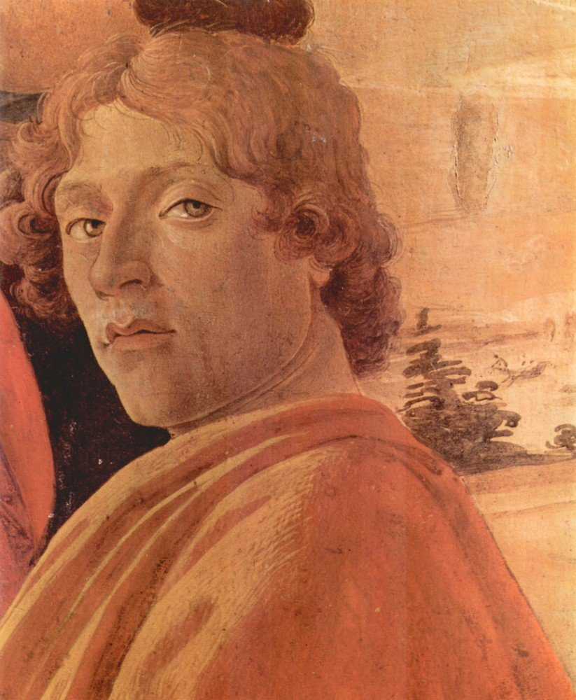 100% Hand Painted Oil on Canvas - Zanobi - Alter Detail 2 by Botticelli - 20x...
