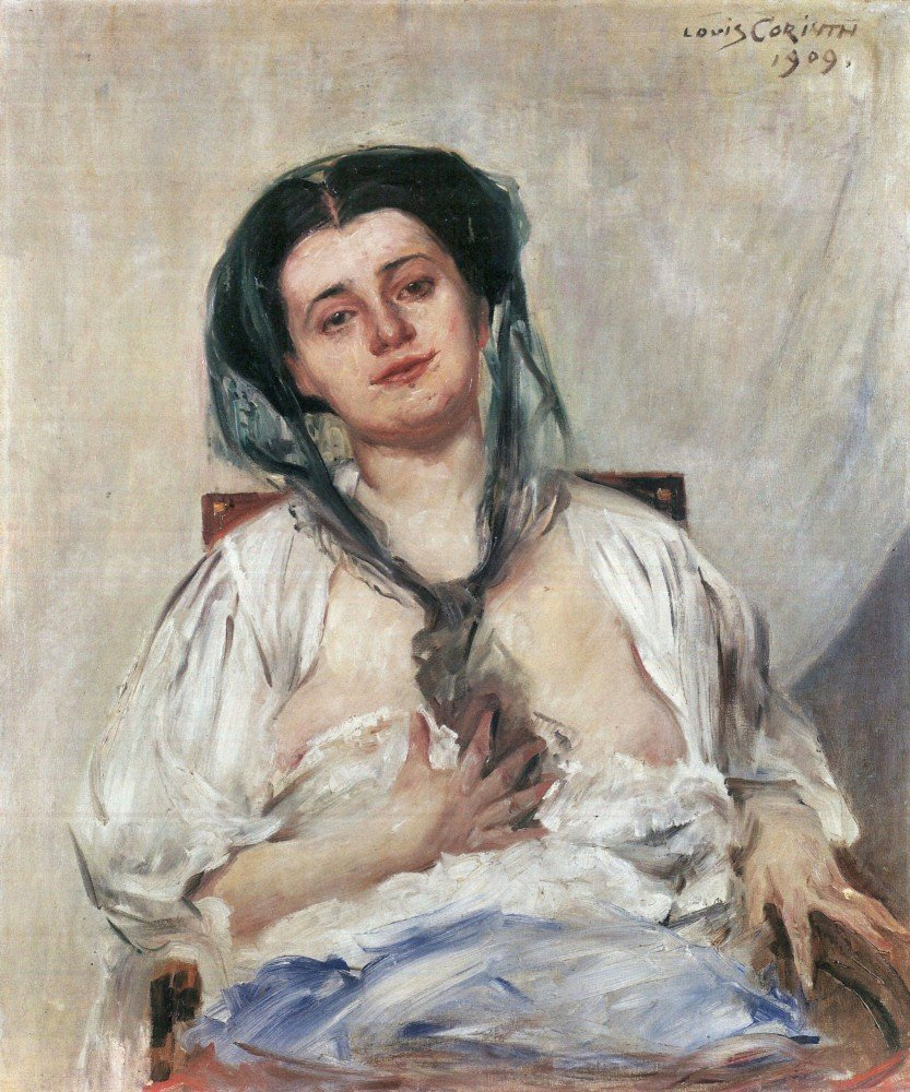 100% Hand Painted Oil on Canvas - Donna Gravida by Lovis Corinth - 30x40 Inch