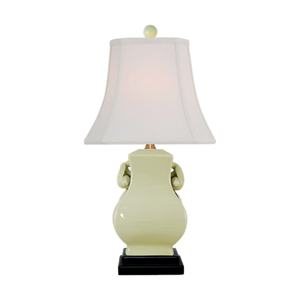 Cute Cream Porcelain Chinese Vase Pomagranate Table Lamp 20.5""