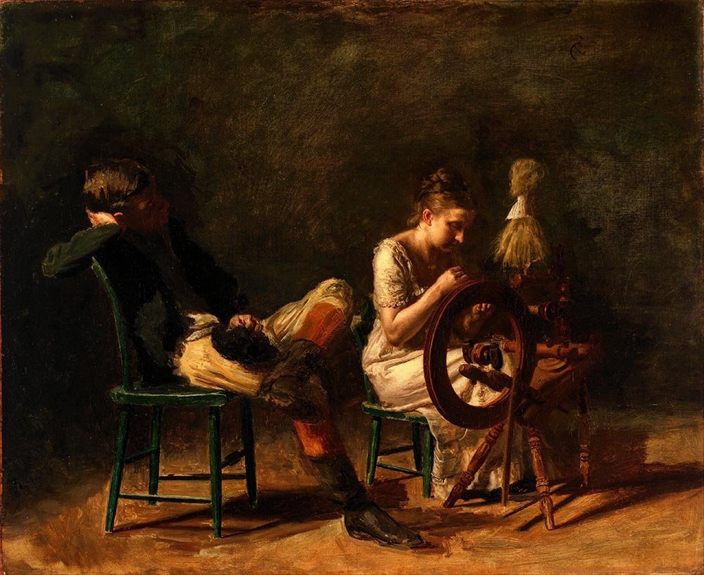100% Hand Painted Oil on Canvas - Thomas Eakins - The courtship - 30x40 Inch
