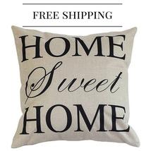 Cushion Cover Pillow Cotton Linen Square Decora... - $18.90