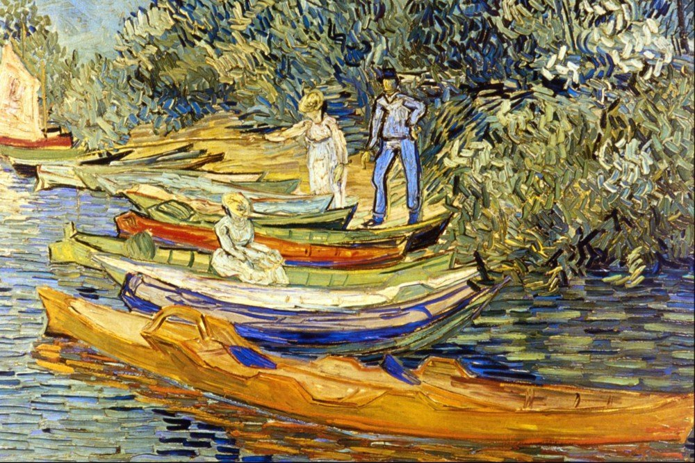 100% Hand Painted Oil on Canvas - The Riverbank, La Grenouillere by Van Gogh ...