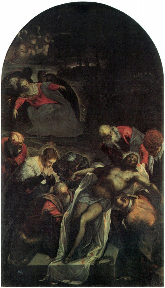 100% Hand Painted Oil on Canvas - The burial by Tintoretto - 24x36 Inch