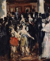 100% Hand Painted Oil on Canvas - Manet - Masked ball at the Opera - 30x... - $404.91