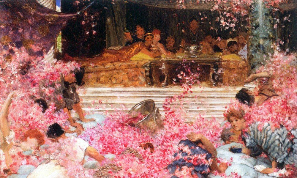 100% Hand Painted Oil on Canvas - The roses of Heliogabalus by Alma-Tadema - ...
