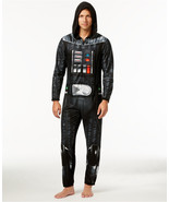 Mens Star Wars Darth Vader Onesie PJs Union Suit Pajamas S M L XL  - $49.00