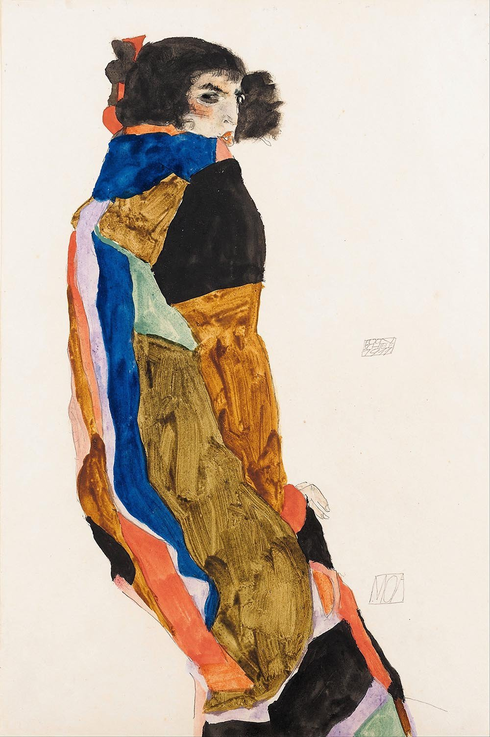 100% Hand Painted Oil on Canvas - Egon Schiele - Moa - 30x40 Inch