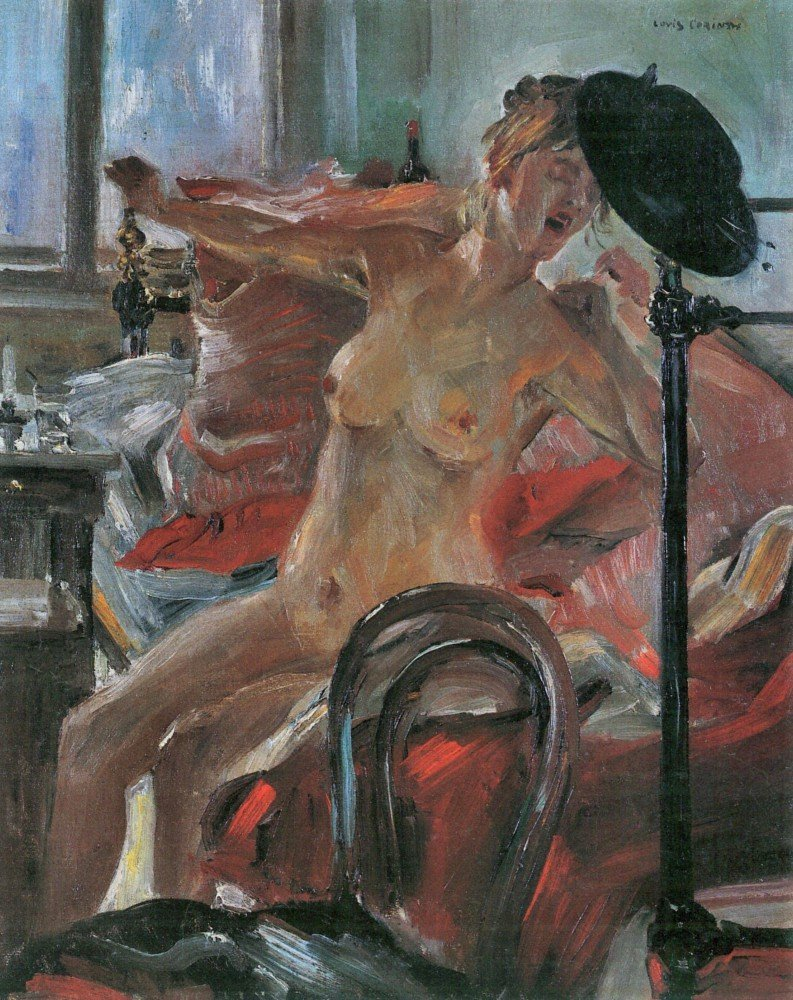 100% Hand Painted Oil on Canvas - Morning by Lovis Corinth - 24x36 Inch