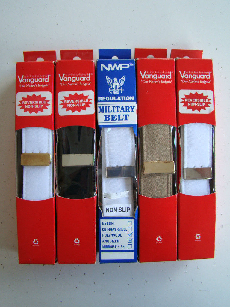 USCG US COAST GUARD BLACK BELT W/ SILVER TIP FITS BUCKLE FOR UNIFORM PANTS XL