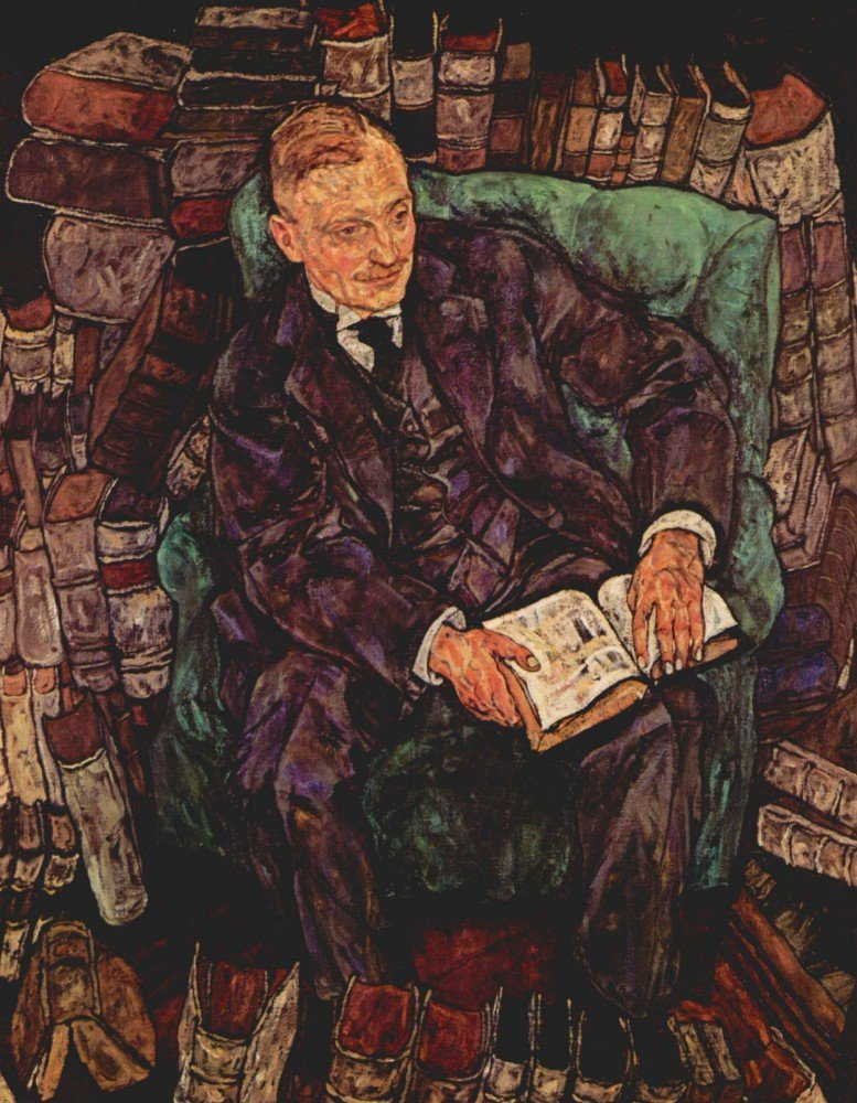 100% Hand Painted Oil on Canvas - Portrait of Hugo Koller by Schiele - 30x40 ...