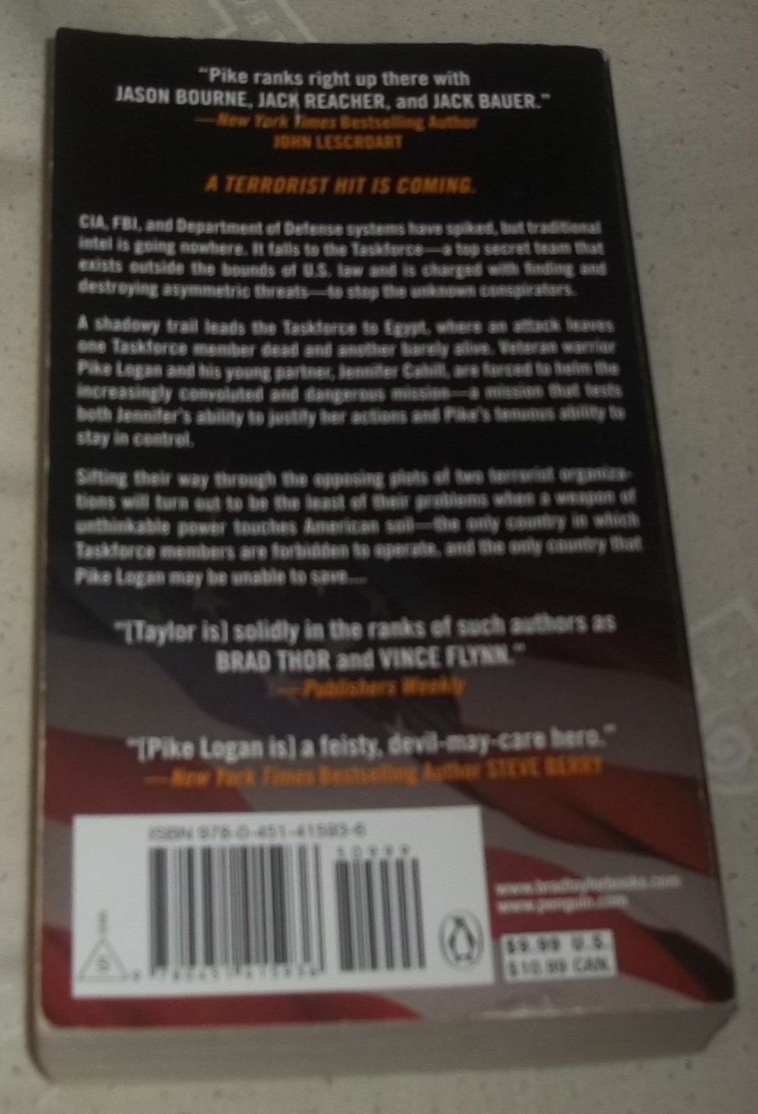 All Necessary Force: A Pike Logan Thriller by Brad Taylor (2013 Paperback)