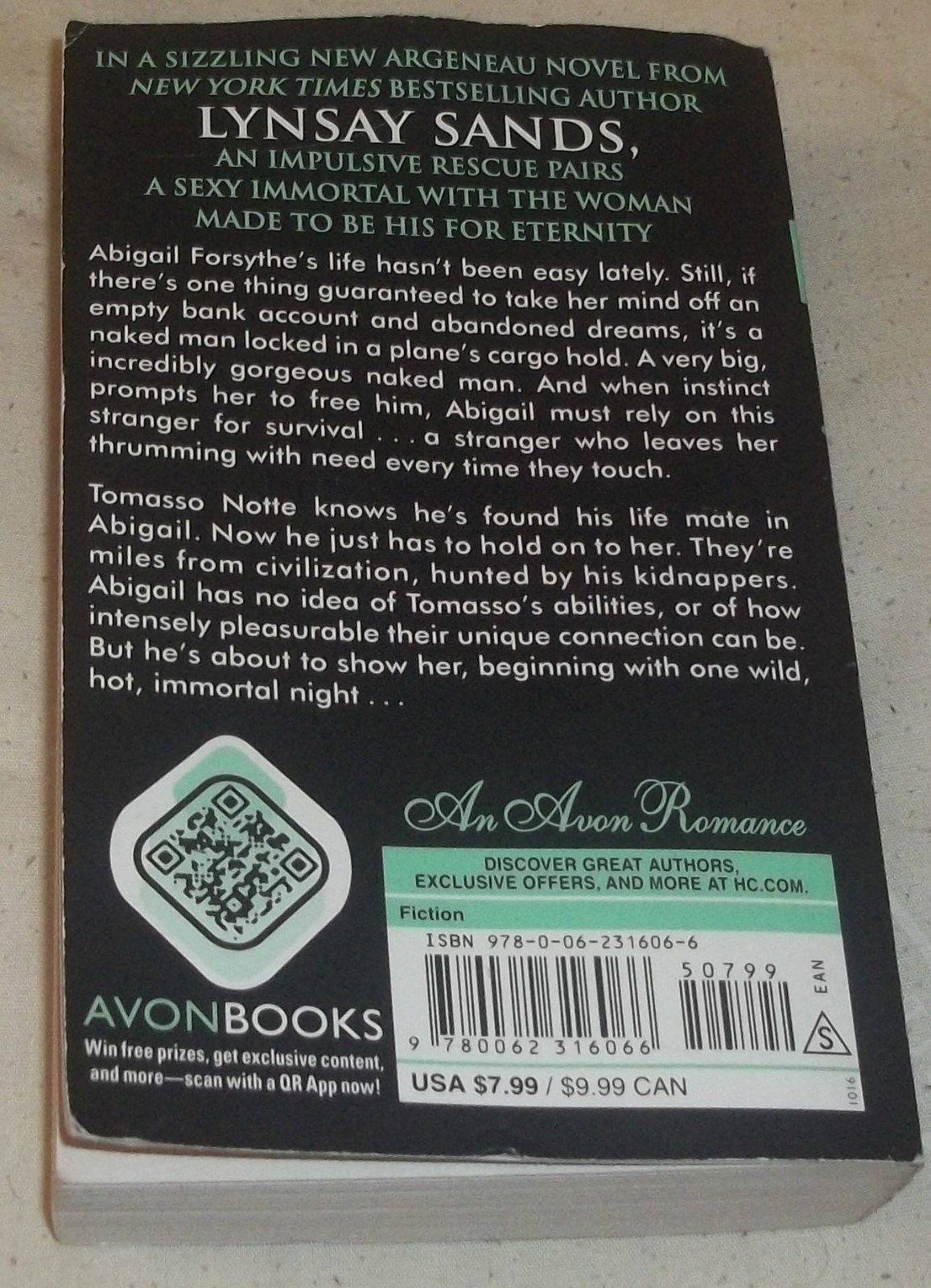 Immortal Nights: An Argeneau Novel by Lynsay Sands (2016, Paperback) Good Book!