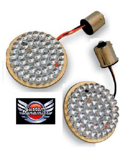 "Primary image for LED Turn Signal Inserts 2"" BULLET Style GEN-200-AW-1157 for Harley Davidson *New"
