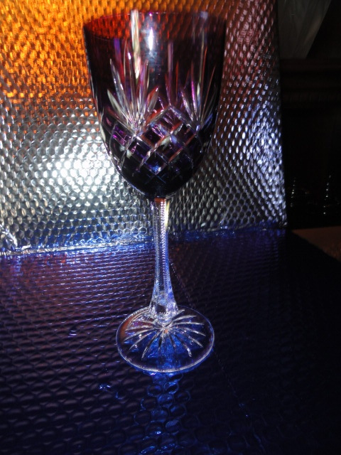 Primary image for Faberge Odessa Purple Crystal Goblet