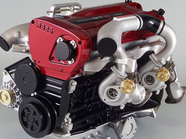 NISSAN SKYLINE GTR R34 RB26DETT 2.6L TURBO ENGINE 1/6 SCALE MODEL MADE I... - $526.00
