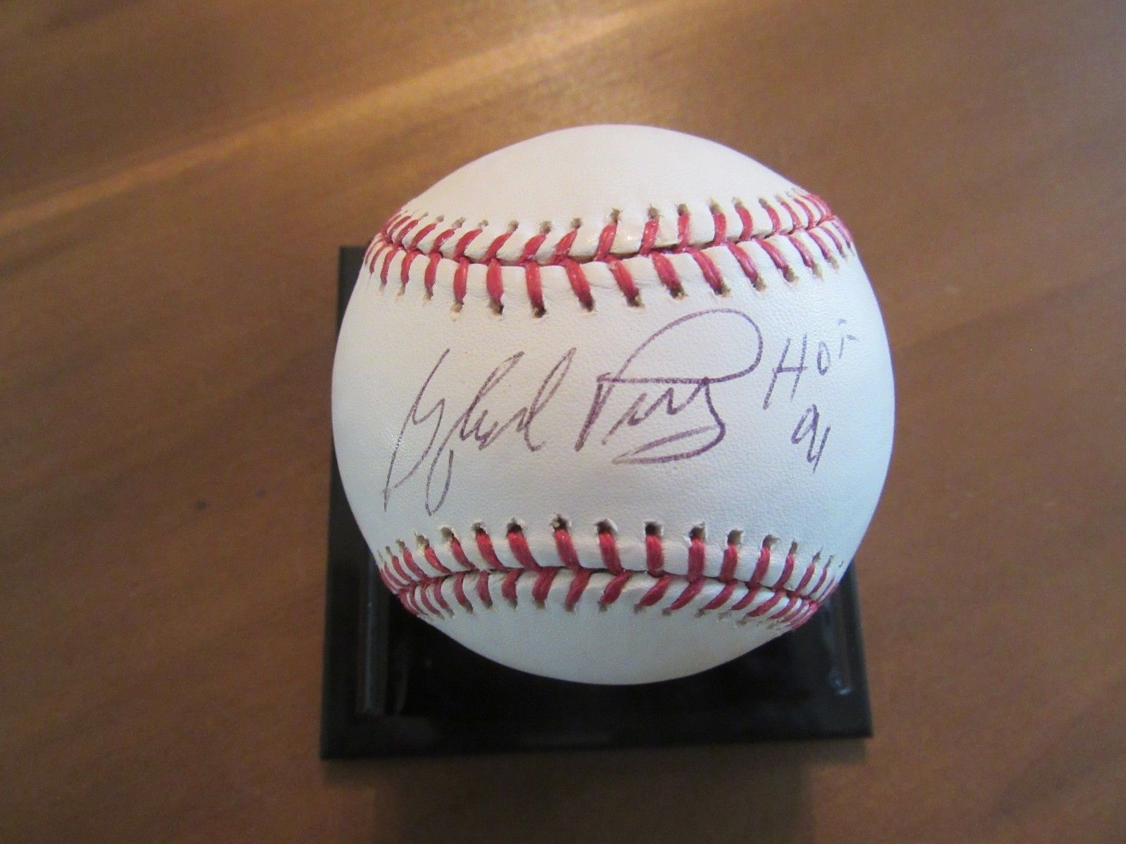 Primary image for GAYLORD PERRY GIANTS RANGERS YANKEES HOF SIGNED AUTO STAT VINTAGE BASEBALL PSA