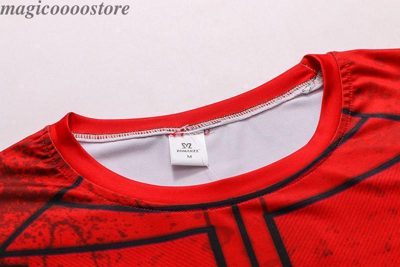 Deadpool Mens Long Sleeve 3D T-Shirt Gym Fitness Crossfit Elastic Tights Tops