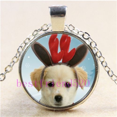 Primary image for CUTE PUPPY CABOCHON NECKLACE  >>  C/S & H AVAILABLE  <<  (415)