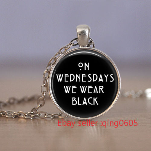 Primary image for WEDNESDAY QUOTE CABOCHON NECKLACE  >> WE COMBINE SHIPPING <<  (419)