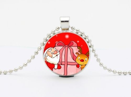 Primary image for SANTA'S PRESENT CABOCHON NECKLACE  >> C/S & H AVAILABLE <<  (416)