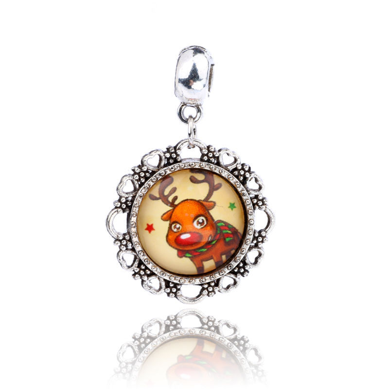 Primary image for CUTE REINDEER CABOCHON NECKLACE  >>  C/S & H AVAILABLE  <<  (432)
