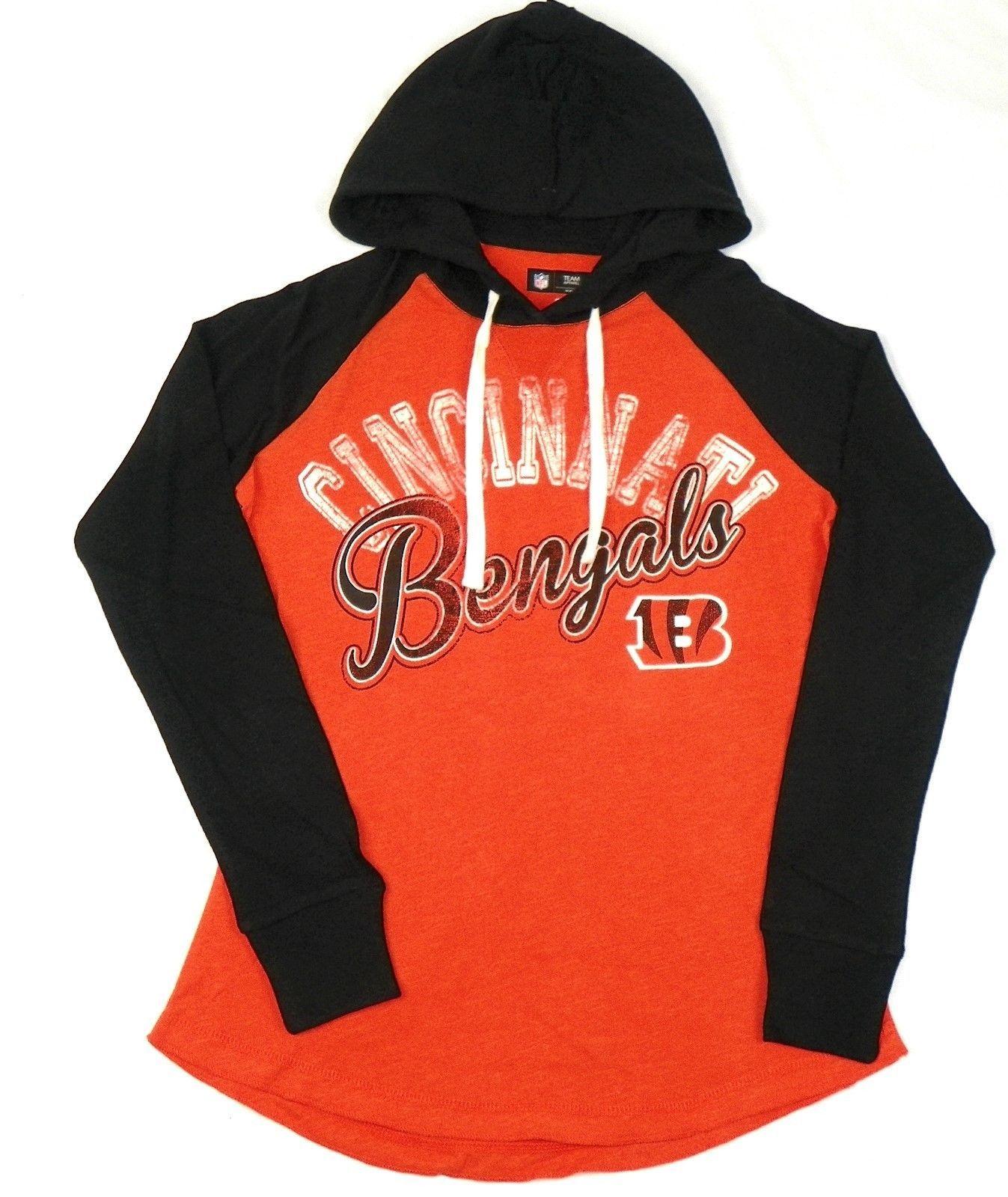 Cincinnati Bengals Women's Hoodie Tee NFL Pump Fake Hooded Long Sleeve Shirt